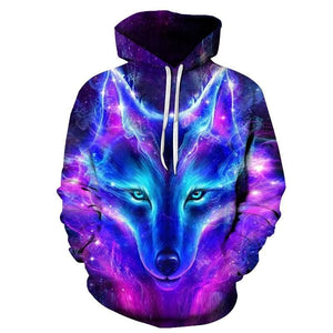 Space Galaxy Wolf Hoodie - New Wolves - unique & trendy stuff