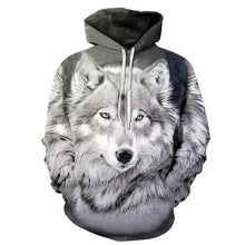 Load image into Gallery viewer, Space Galaxy Wolf Hoodie - New Wolves - unique & trendy stuff