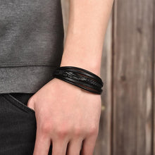 Load image into Gallery viewer, Multi-Layer Leather Leaf Feather Bracelet - New Wolves - unique & trendy stuff