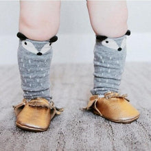 Load image into Gallery viewer, Toddler knee high baby fox socks