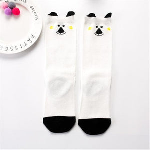 Toddler knee high baby fox socks