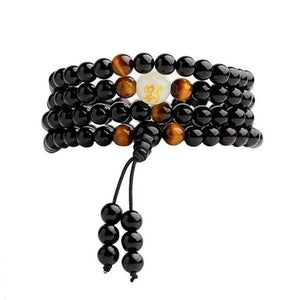 1PC Natural Stone Black Obsidian Magnetic Therapy Bracelet - New Wolves - unique & trendy stuff