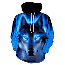 Load image into Gallery viewer, 2019 New Star-headed wolf print Hoodies - New Wolves - unique & trendy stuff