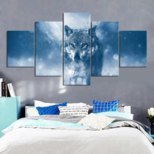 Load image into Gallery viewer, Black Wolf Wall Art Canvas (5 Pcs) - New Wolves - unique & trendy stuff