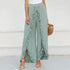 Womens - Split Ruffled Wide Leg Trousers - PengThingss