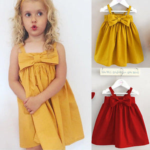 Bowknot Cotton Dress Baby/Toddler