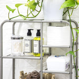 Floating Wall Mount Bathroom Storage Shelf | 5-Tier Square Design to Store Towels, Toilet Paper, and other Bath Essentials
