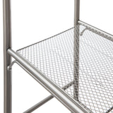 Over the Toilet Bathroom Storage Rack, 3-Tier (Satin Nickel)