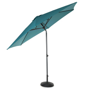 10ft Tilting Patio Umbrella, Instant Up & Down, Easy Crank Free Design w/ Push Button Tilt (Teal)
