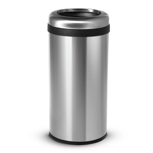 60 Liter / 16 Gallon Commercial Style Stainless Steel Round Open Top Bin