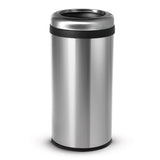 15.8 Gallon Kitchen Trash Can, Open Top Round Stainless Steel, 60 Liter