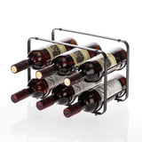 Tabletop Wine Storage Rack, Stackable Modular Design, Holds up to 6 Bottles (Oil-Rubbed Bronze)