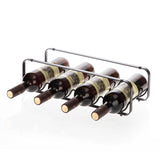 Tabletop Wine Storage Rack, Stackable Modular Design, Holds up to 4 Bottles (Oil-Rubbed Bronze)