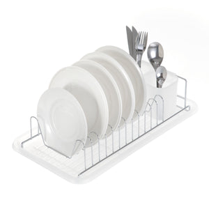 Dish Drying Rack with Drain Board, Single Tier