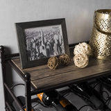 Wall Mounted Wine Rack with Stemware Organizers (Rustic)