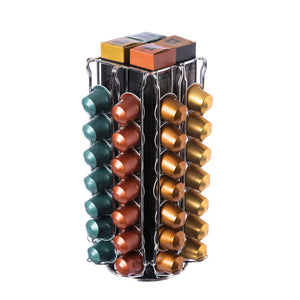 Coffee Pod Holder – Storage up to 56 Capsules OriginalLine with 360 Degree Rotating Base and Organizer for up to 4 Coffee Pod Sleeves