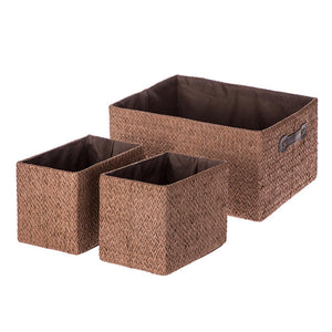 Home Zone Living Storage Nursery Basket, Great for Toys Blankets and Magazines, Foldable Design, Set of 3 (Brown)