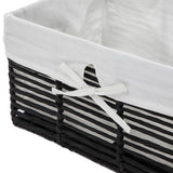 Home Zone Living Storage Nursery Basket with Cloth Liner, Great for Toys Blankets and Magazines, Sturdy Metal Frame Design, Set of 4 (Black)