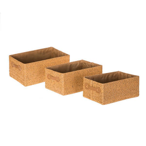 Home Zone Living Storage Nursery Basket, Great for Toys Blankets and Magazines, Foldable Design, Set of 3 (Beige)