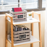 Wooden Crate Storage Set, Nested Set of 3 with Chalkboard