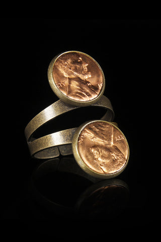 Unique Penny Ring Lincoln Coin Jewelry