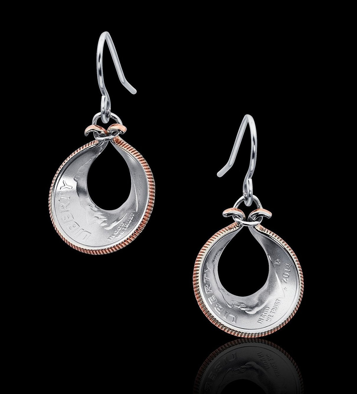 Oyster Shell Dime Earrings - Trittello