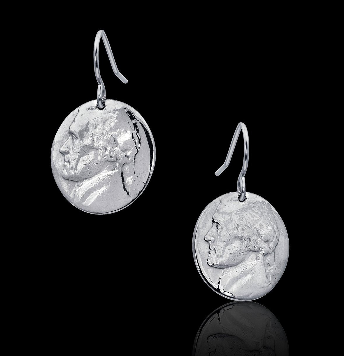 unique nickel coin earrings jewelry