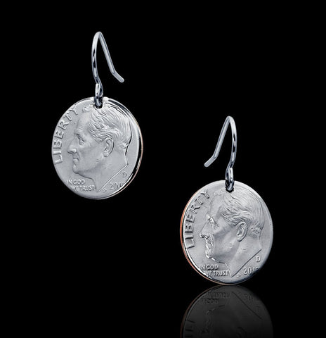 Unique Dime Coin Earrings Jewelry