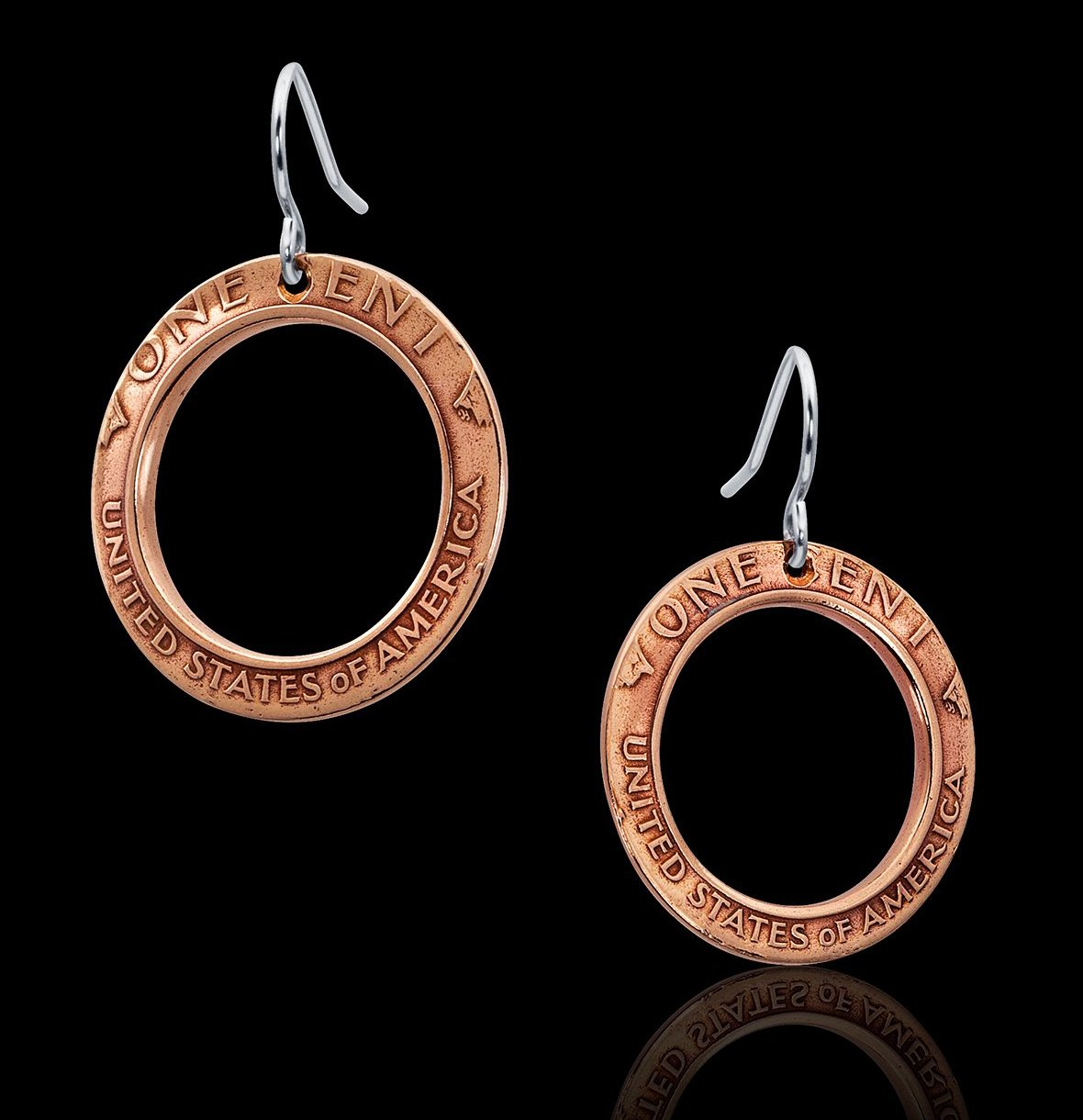 Inverted Penny Earrings - Trittello