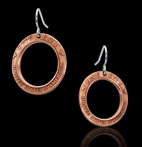 Unique penny Coin Earrings Jewelry