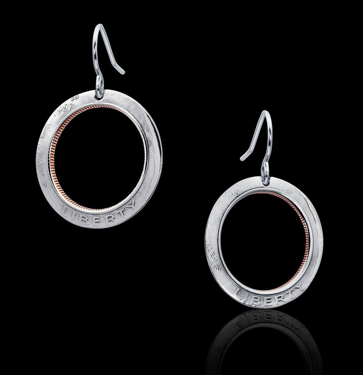 Inverted Dime Earrings - Trittello