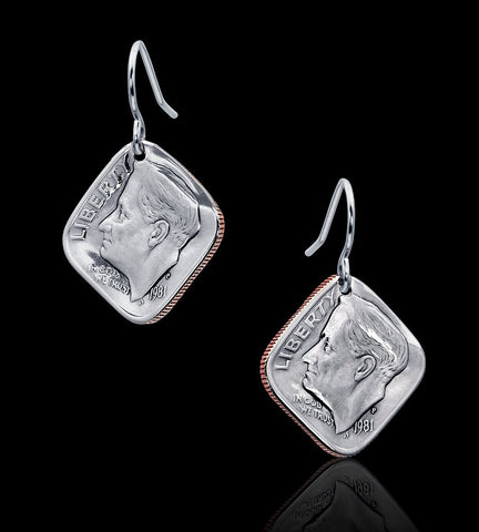 Diamond Dime Earrings