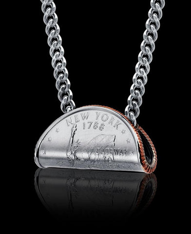 Rolled Quarter Necklace - Trittello