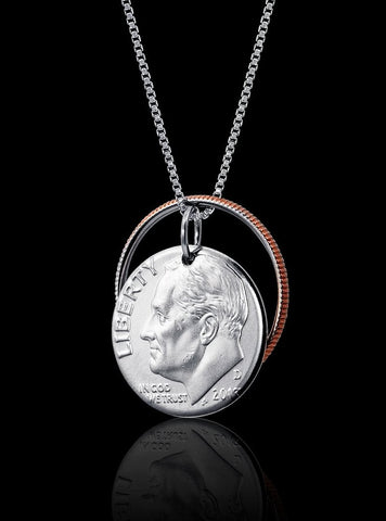 Reunited Dime Necklace - Trittello
