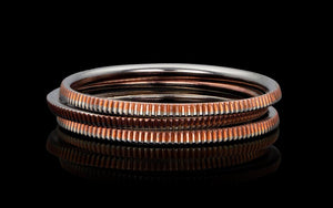 Reeded Dime Ring - Trittello