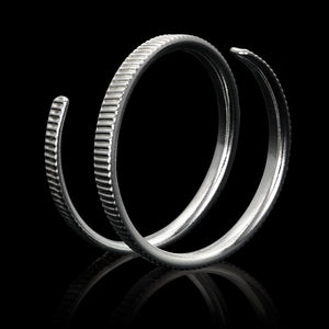 .999 Fine Silver Coin Ring Jewelry Reeded Edge