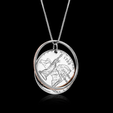 Reunited Quarter Necklace - Trittello