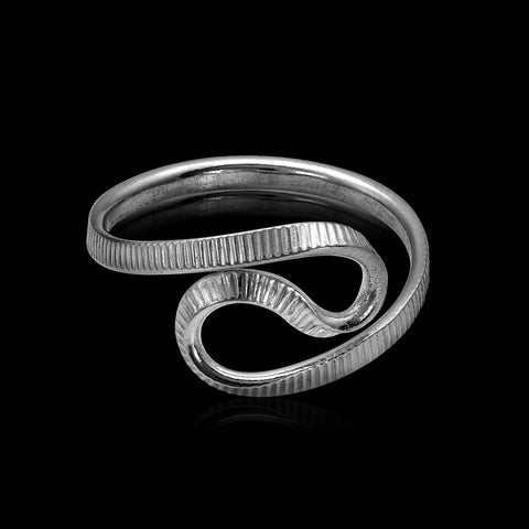 Silver Wave Ring - Trittello