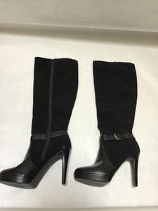Audrey Brooke Size 8.5 Tall Black boots