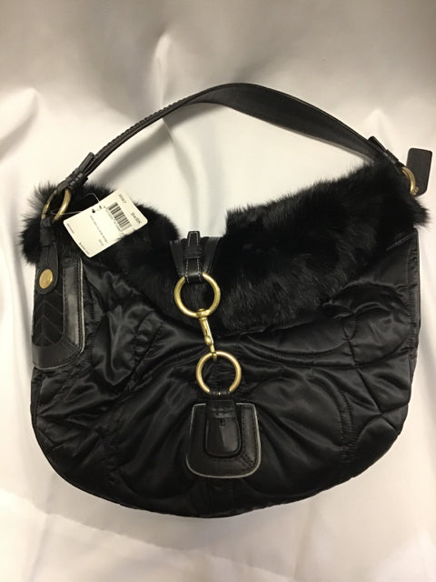 Coach Black Rabbit Hair Purse