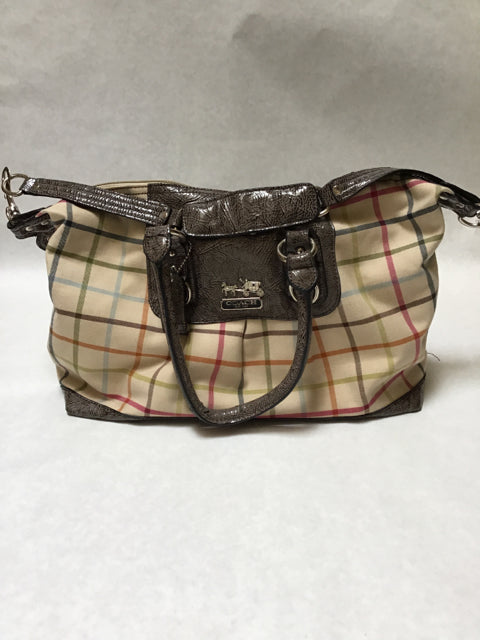 Coach Size Large Brown Multi Purse 07551