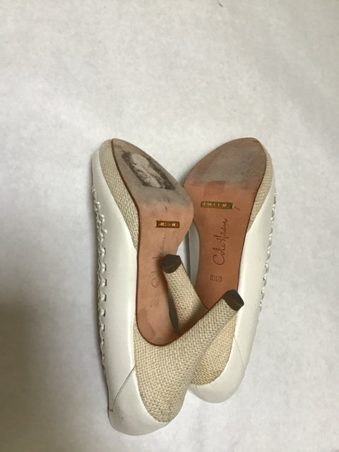 "Cole Haan Size 8.5 B off white 4"" Heel Dress Shoes"