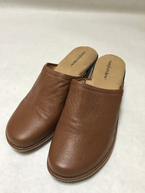 Comfortview Size 8 WW Brown Slip On Shoes