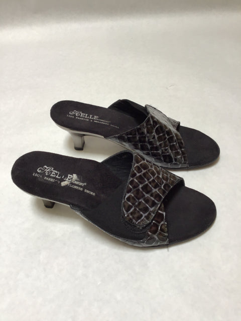Helle comfort Possible Size 6 Black Sandals Velcro