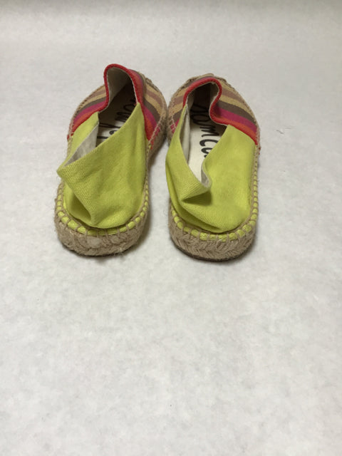 Sam Edelman Size 7 Brown Slip On Canvas Loafers Multi Colored Shoes