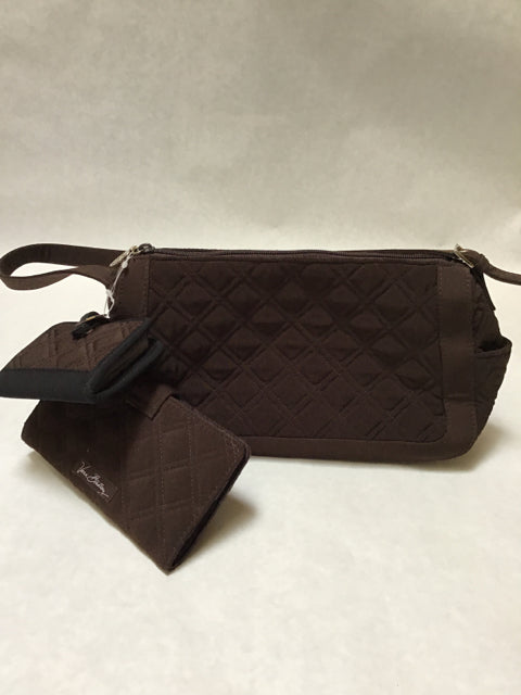 Vera Bradley Size Small Brown Purse Wallet Set New!