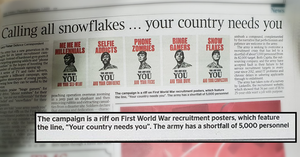 Soldiers Sign Off In Their Thousands Over New Army Recruitment Campaign