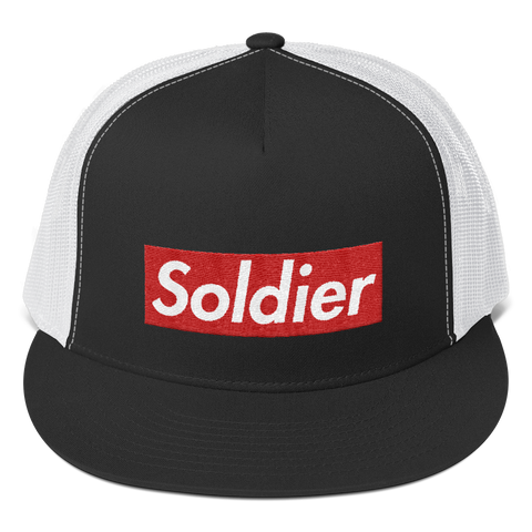 Soldier Embroidered Mesh Snapback