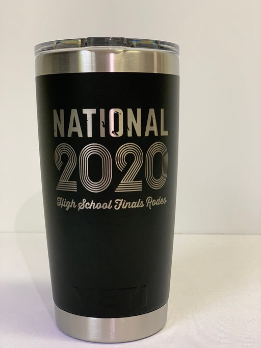 2020 NHSFR 20 oz Black Yeti Tumblr