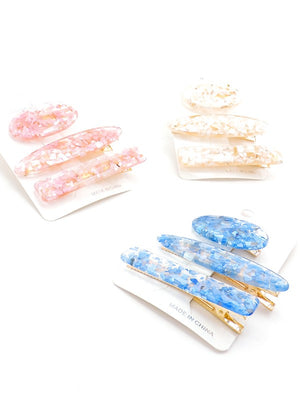 Speckled Hair Clips